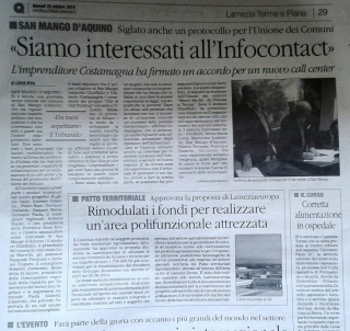"""Siamo interessati all'Infocontact"""