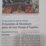 Il mandato di Montuoro parte da san mango d'Aquino