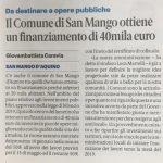 Il Comune di San Mango ottiene un finanziamento di 40mila euro